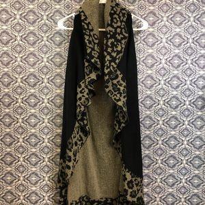 Tunic Length Waterfall Front Cheetah Vest